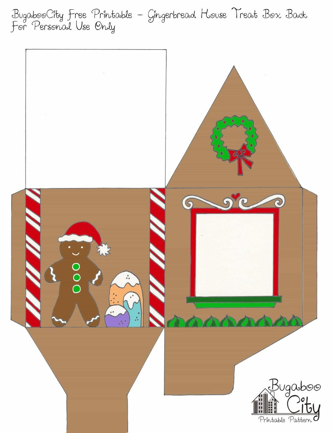 Search Results For Gingerbread House Patterns Printable