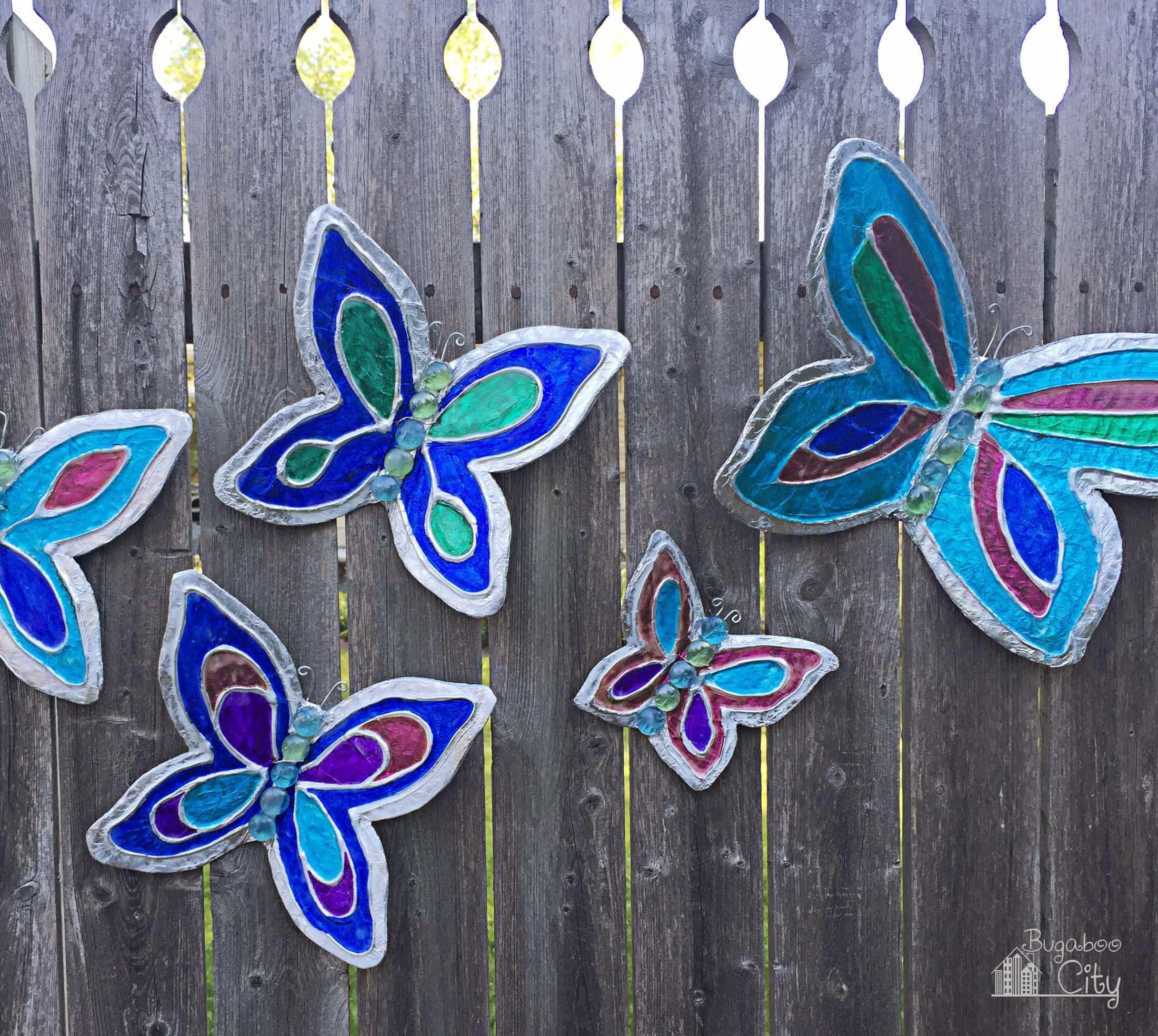 Diy Butterfly Garden Ornament Bugaboocity