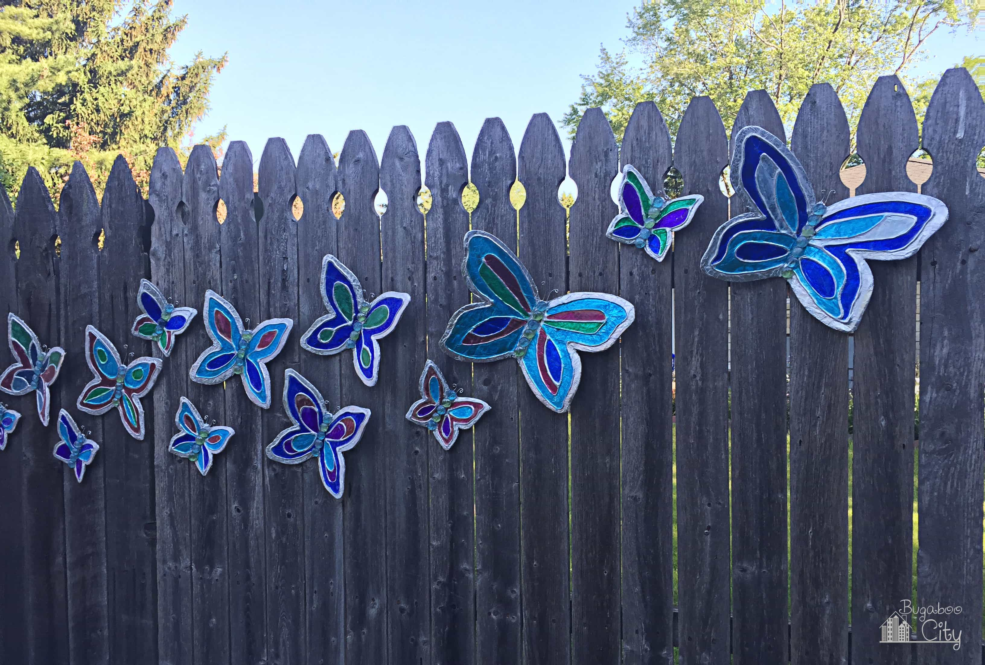 Outside ornaments - Once They Have Dried Your Butterflies Are Finished And Ready To Be Put Outside