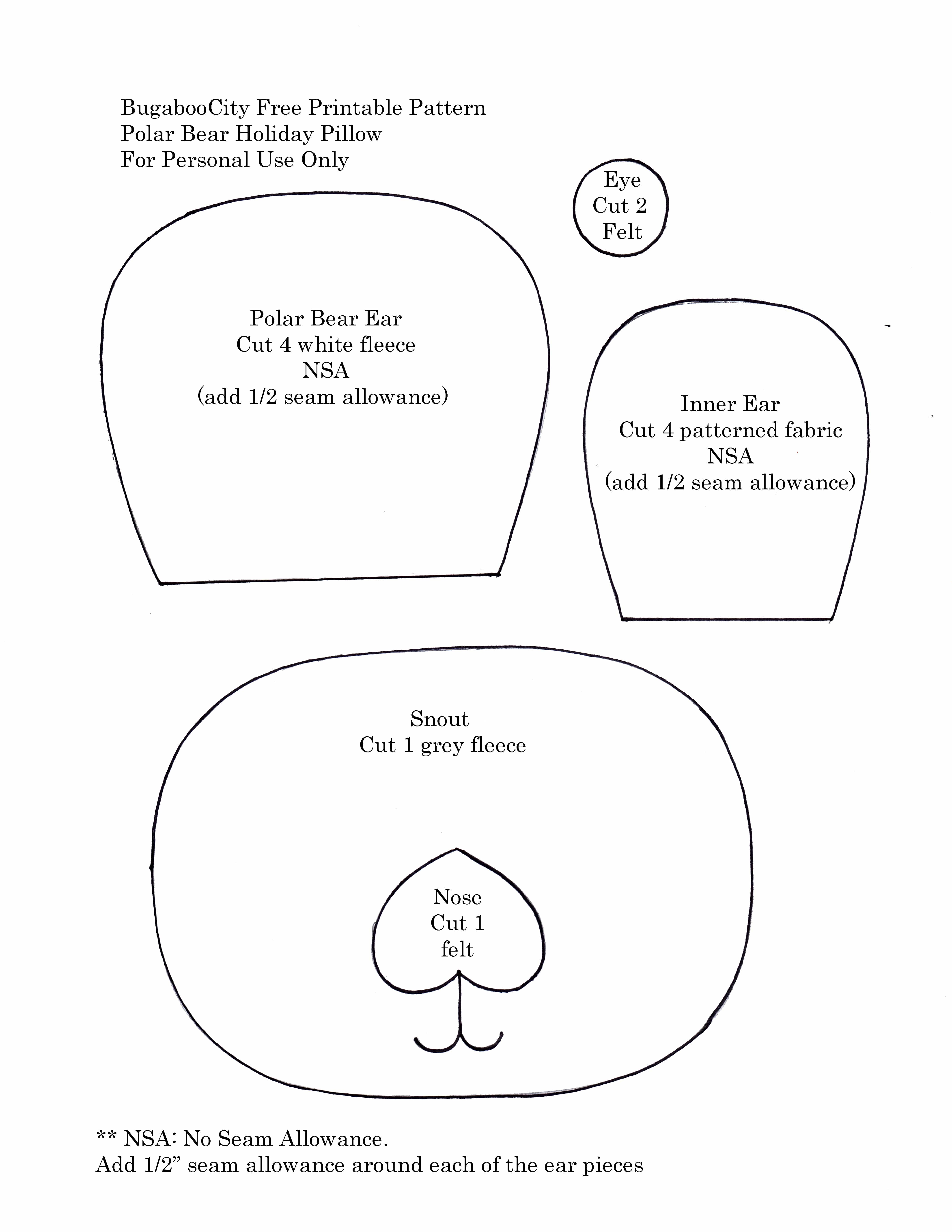 printable polar bear patterns patterns kid