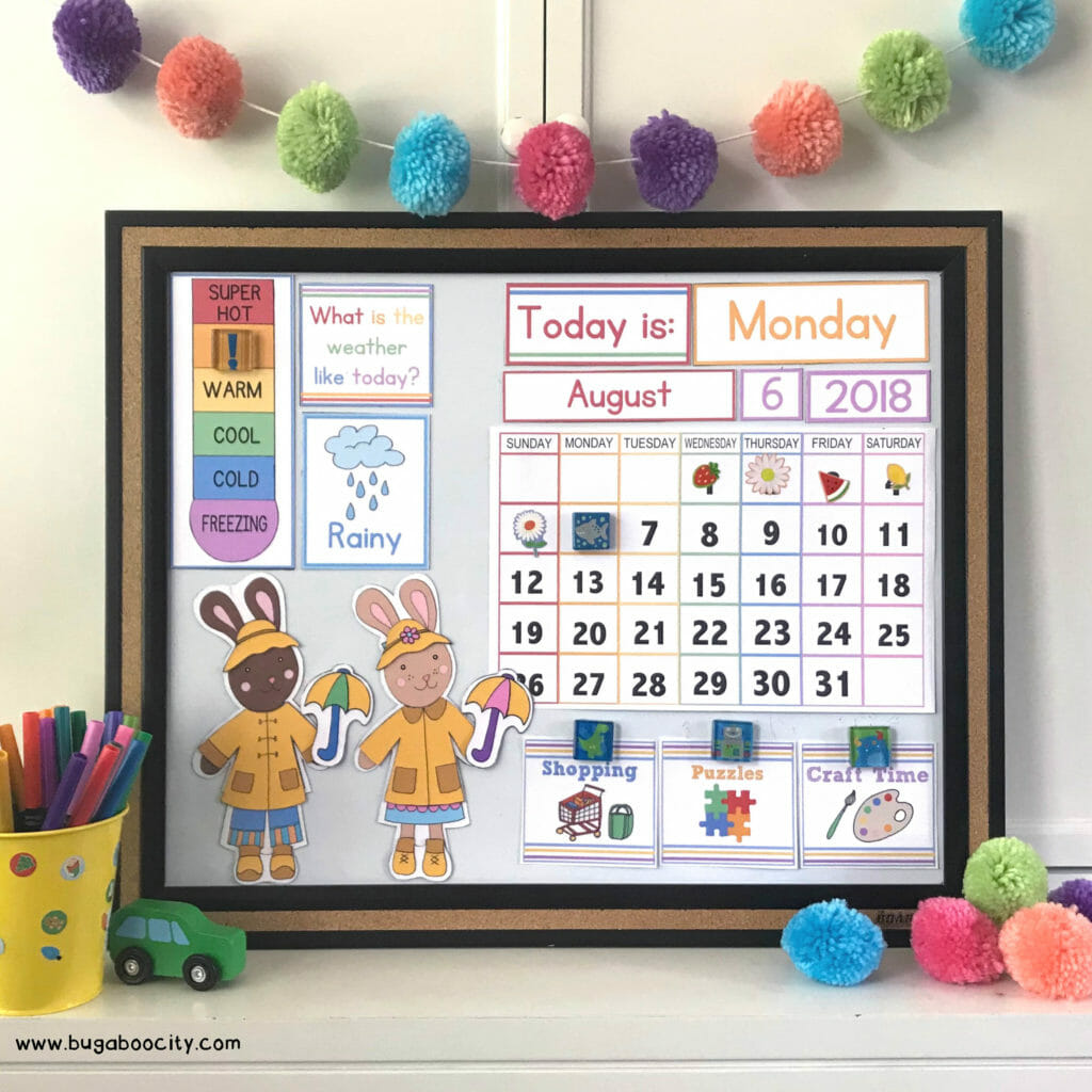 Diy Children S Calendar With Free Printables Bugaboocity