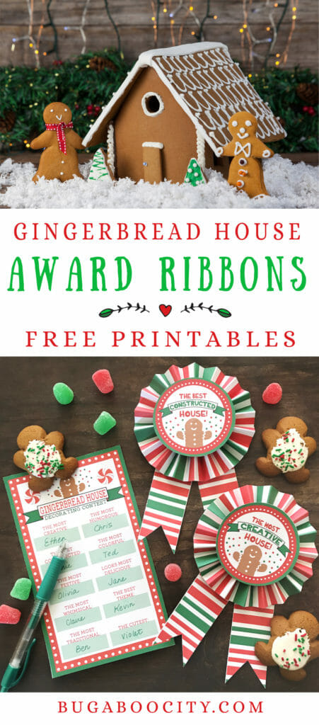 gingerbread house making certificate printable