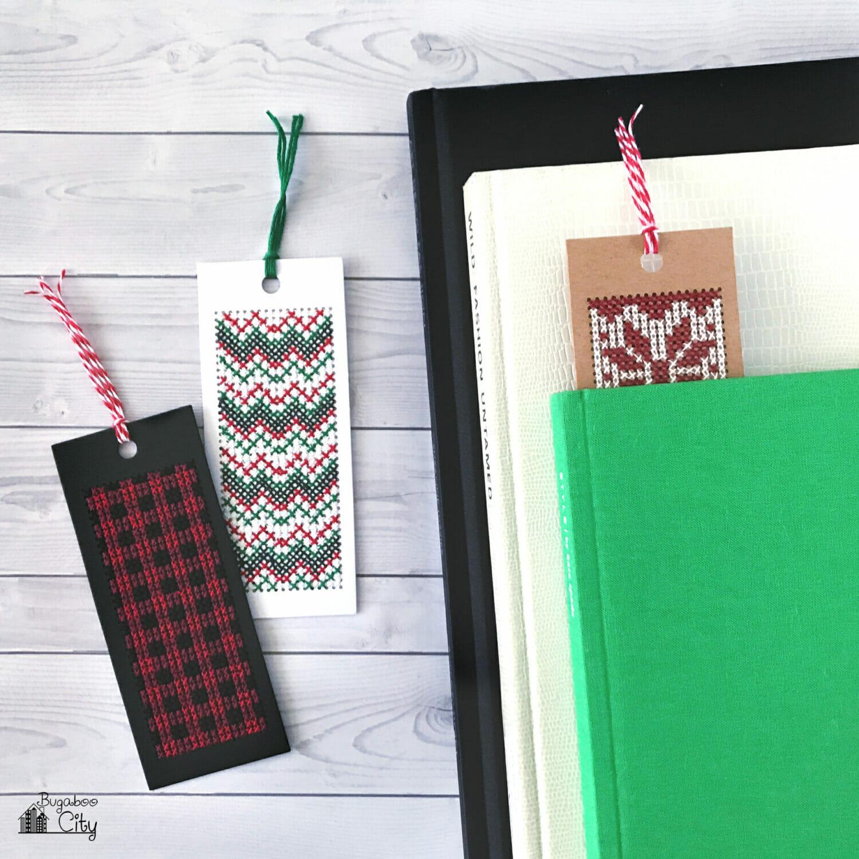 Winter Cross Stitch Bookmarks Free Pattern Bugaboocity