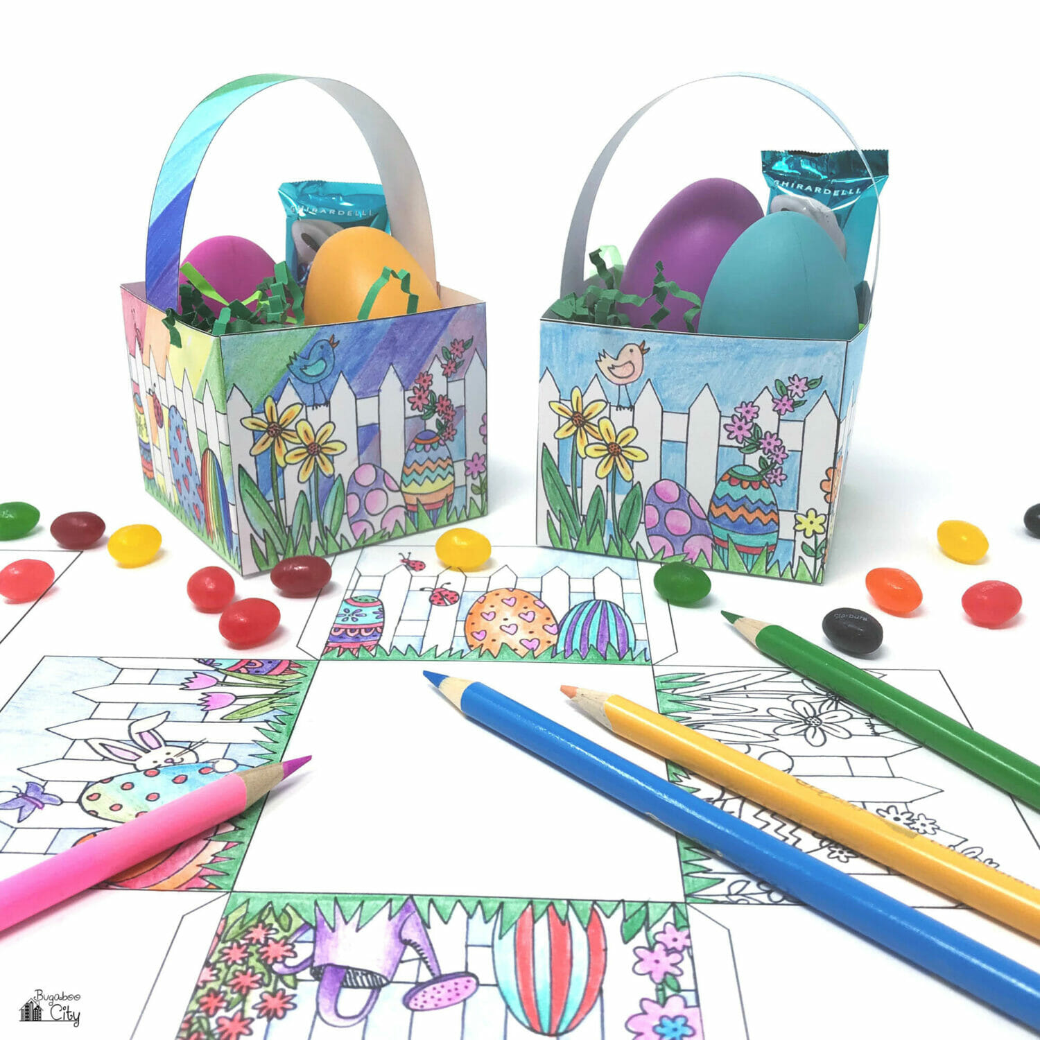 It is a picture of Impeccable Printable Easter Basket